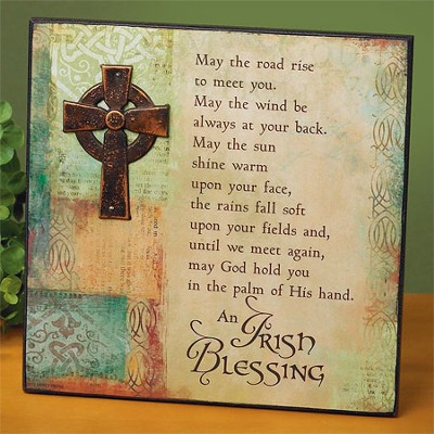 May the Road Rise Up, Irish Blessing Plaque  -