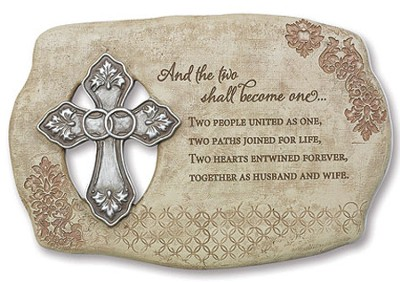 And the Two Shall Become One Wedding Plaque  -