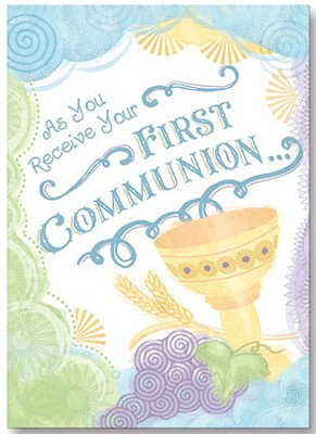 First Communion Cards, Pack of 6  -