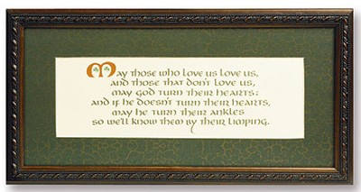 Irish Blessing Framed Print  -