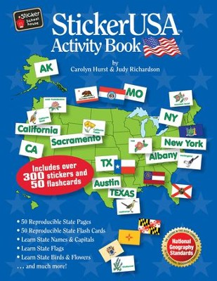 StickerUSA Activity Book    -