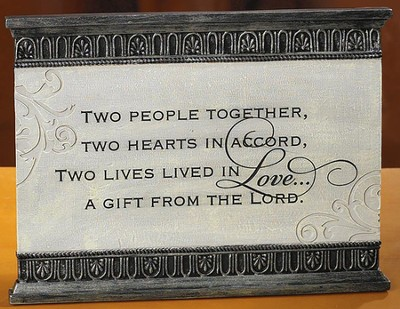Two People Together Love Plaque  -
