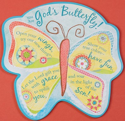 God's Butterfly Plaque  -