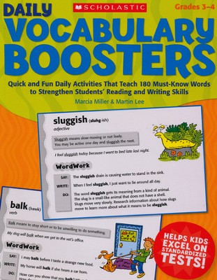 Daily Vocabulary Boosters: Quick and Fun Daily Activities  -     By: Marcia Miller, Martin Lee