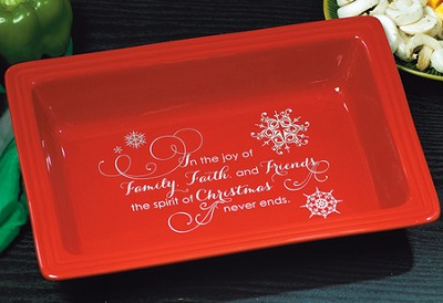 Faith, Family, Friends Casserole Dish  -