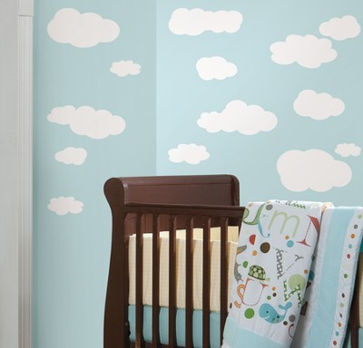 Clouds Vinyl Wall Stickers, White  -