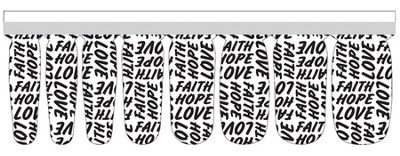 Faith, Hope, Love Nail Strip  -