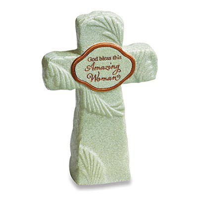 God Bless This Amazing Woman Tabletop Cross  -