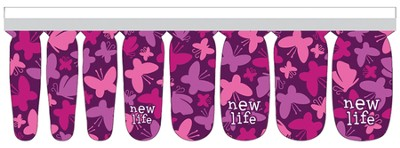New Life Butterflies Nail Strip  -