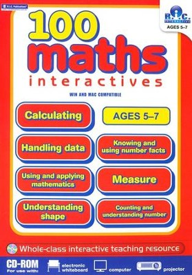 100 Math Interactives, Ages 5-7 CD-ROM   -