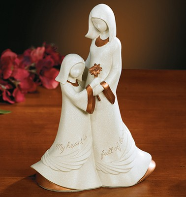 Mom And Daughter, My Heart Is Full Figurine  -