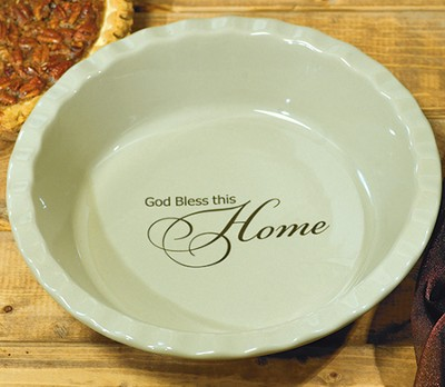 God Bless This Home Pie Plate  -