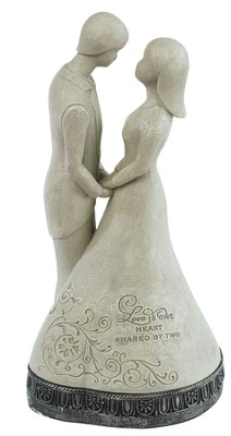 Love Is One Heart Shared By Two Figurine  -