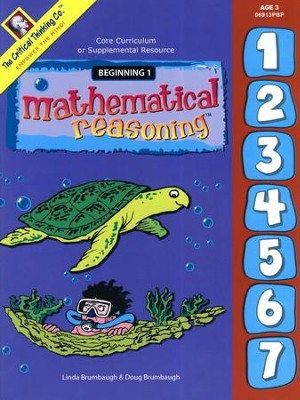 Mathematical Reasoning, Beginning 1, Age 3   -     By: Linda Brumbaugh, Doug Brumbaugh