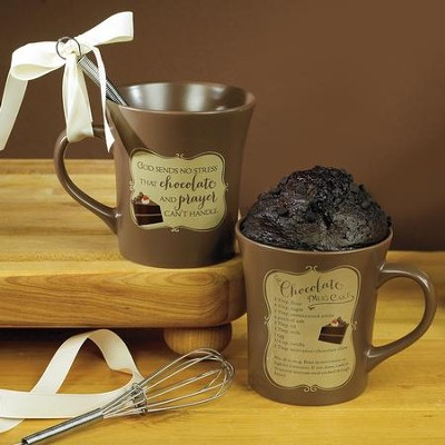 Chocolate and Prayer Whisk Mug Set   -