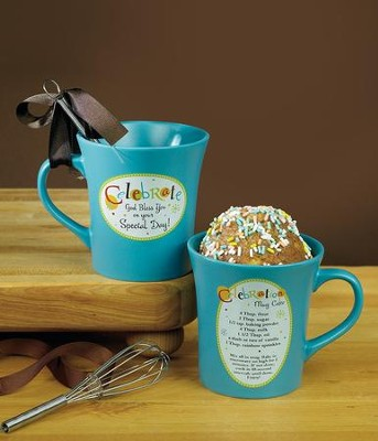 Celebrate, God Bless You On Your Special Day Mug with Whisk  -
