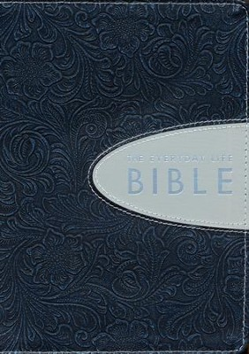 The Everyday Life Bible, Bonded Leather, Hand-Tooled    Pewter with Graphite Inset - Imperfectly Imprinted Bibles  -     By: Joyce Meyer