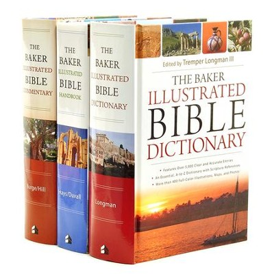 Baker Illustrated Bible Bundle - Dictionary, Handbook, & Commentary Set  -