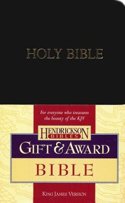 KJV Gift & Award Bible, Imitation leather, Black , Case of 24  -