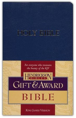 KJV GIft & Award Bible, Imitation leather, blue  - Slightly Imperfect  -