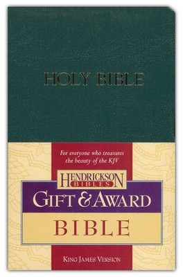 KJV Gift & Award Bible, Imitation leather, Dark green , Case of 24  -