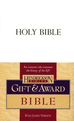 KJV Gift & Award Bible, Imitation leather, White   -