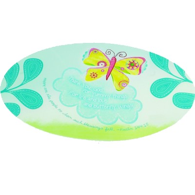 Butterfly Placemat, Psalm 144:15   -