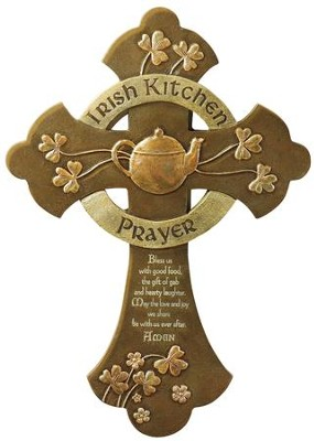 An Irish Kitchen Prayer Wall Cross  -