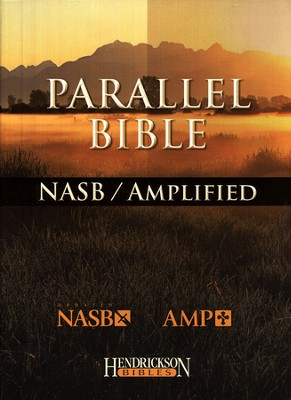 The NASB/Amplified Parallel Bible--bonded leather, black  -