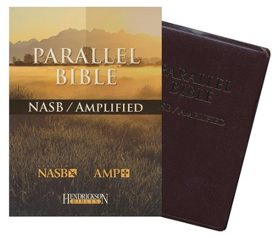 NASB Amplified Parallel Bible, bonded leather burgundy   -