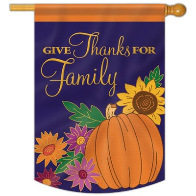 Give Thanks for Family Flag, Large  -