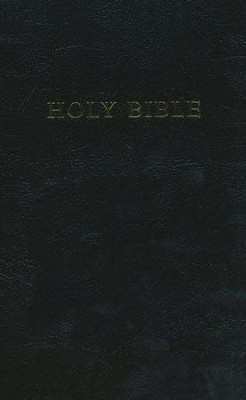 KJV Personal Reference Bible, Giant Print, Imit. Leather/Black    -
