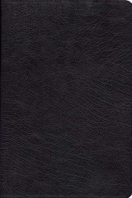 The KJV Henry Morris Study Bible, Genuine Leather, black  -