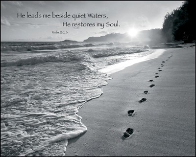 Lead Me Beside Quiet Waters Mounted Print  -