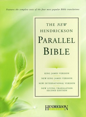 Hendrickson Parallel Bible, Bonded leather, burgundy KJV, NIV, NKJV, & NLT  -