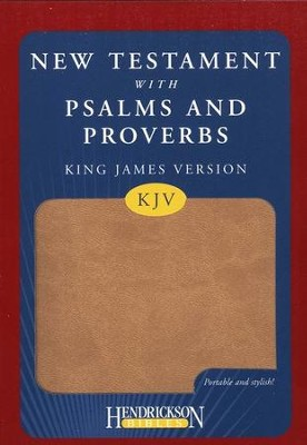 KJV New Testament with Psalms and Proverbs, imitation leather, tan  -