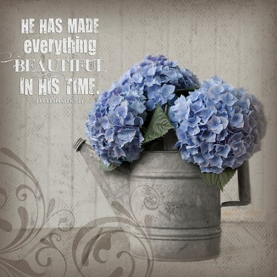 He Has Made Everything Beautiful Plaque, Medium  -     By: Leona Lapp