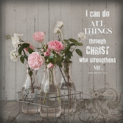 I Can Do All Things Through Christ, Mini Plaque  -     By: Leona Lapp