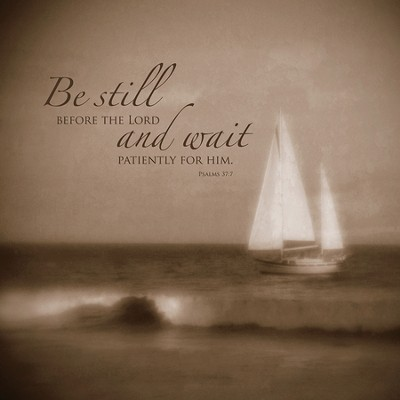 Be Still and Wait Plaque, Medium  -     By: Heather Jacks