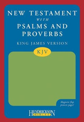 KJV New Testament With Psalms And Proverbs Green, Magnetic Flap  -