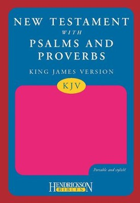 KJV New Testament with Psalms and Proverbs, pink   -