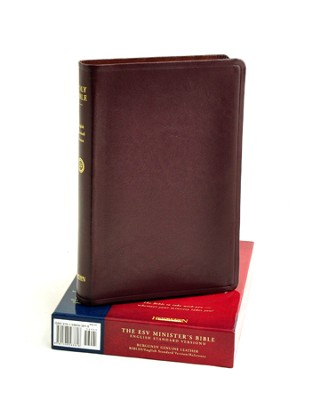 ESV Minister's Bible, Genuine Leather Burgundy   -
