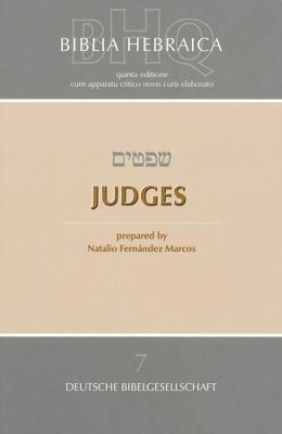 Biblia Hebraica Quinta: Judges  - Slightly Imperfect  -     Edited By: Natalio Fernndez Marcos     By: Edited by Natalio Fernndez Marcos