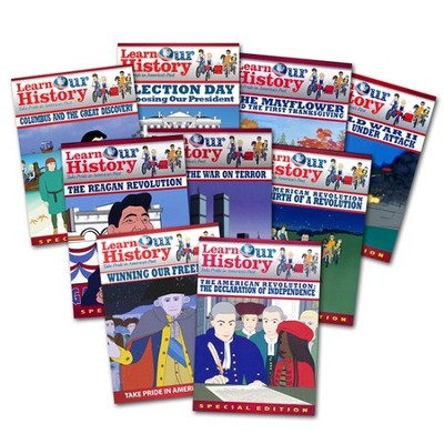 Learn Our History Pack of 9 DVDs  -