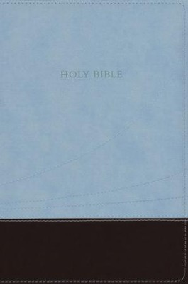 KJV Large Print Thinline Reference Bible Flexisoft chocolate/blue - Slightly Imperfect  -
