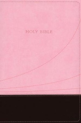 KJV Large Print Thinline Reference bible flexisoft chocolate/pink  -