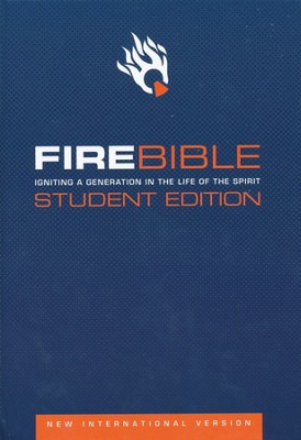 NIV Fire Bible Student Edition Hardcover 1984  -