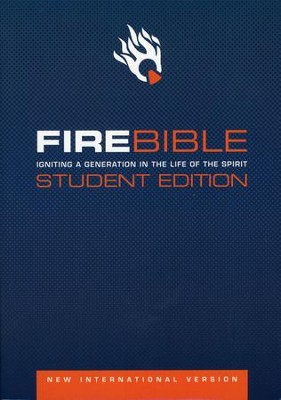 NIV Fire Bible Student Edition Softcover 1984  -