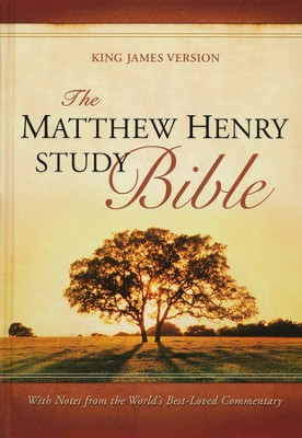 KJV The Matthew Henry Bible, hardcover Thumb-Indexed   -