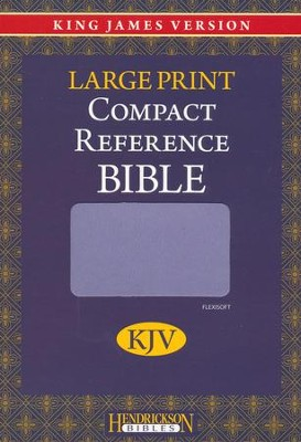 KJV Large Print Compact Reference Bible, Flexisoft leather, Lilac   -
